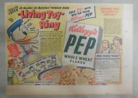 Kellogg's Pep Cereal Ad: Donald Duck Living Toy Ring 1949 Size: 7 x 10 inches