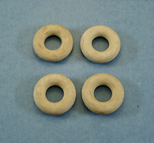 "4 White Rubber TIRES 7/8"" HUBLEY Cast Iron BARCLAY RACER --new with old look"