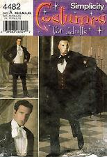 Simplicity Men's Phantom Of The Opera Costume Pattern 4482 Size Xs-Xl Uncut
