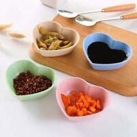 Love Heart Shaped Sauce Plate Seasoning Dish Small Plate Food Snack Dish