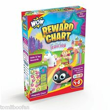 Wow Reward Chart - Fairies Star Stickers Usable Personalized Behaviour Training
