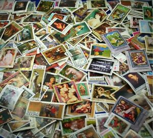PAINTINGS by various Artists, nice collection of 1000 different stamps (Lot#DP)