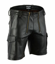 AW7520 Plain Leather Carpenter Shorts,Cargo Shorts,Zimmermann hose,Cargo Pants