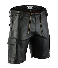 AW7520 Plain Leather Carpenter Shorts,Cargo Shorts,Zimmermann hose,Cargo Pants