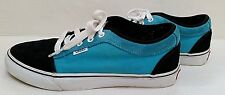 VANS OFF THE WALL SHOES Chukka Low Black Turquoise Suede Canvas Skater Mens 10