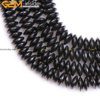 A Grade Rondelle Black Beads Magnetic Hematite Spacer Beads Gemstone Strand 15""