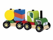 Playtive Holzzug - Steckspiel Traktor Playtive