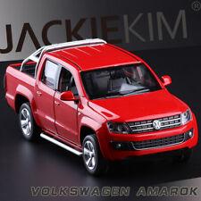 1:32 Scale Volkswagen Amarok Diecast Pick Up Truck SOUND LIGHT 4-Doors Open Red