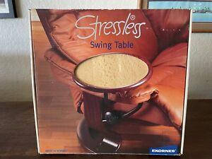 Ekornes Stressless Swing Table In Brown Maple Light Stain NOS Norway