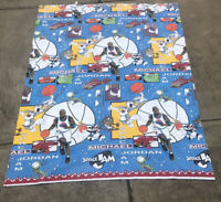 "Vintage 1996 Space Jam Looney Tunes Michael Jordan 90"" X 70"" Blanket Twin"