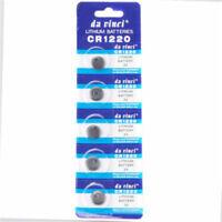 5x CR1220 ECR1220 3V Knopfzelle Batterie Elektronische Knopfzellen Knopfbatterie