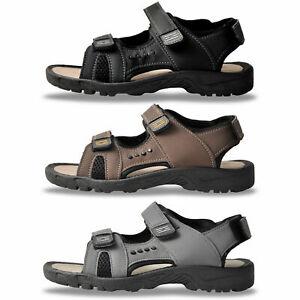 Mens Sandals Hiking Walking Summer Shoes Trekking Beach Adjustable Cushion Sole