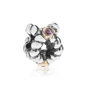 Genuine PANDORA Binding Beauty 925 Silver,14k Gold & Pink Charm 790410PSA