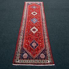 Orient Teppich Läufer 317 x 87 cm Perserteppich Rot Alt Handgeknüpft Runner Rug