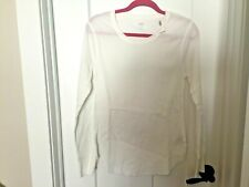 NEW WITH TAGS! ~OLD NAVY~ 100% STRETCH COTTON KNIT THERMAL TOP WHITE Size LARGE