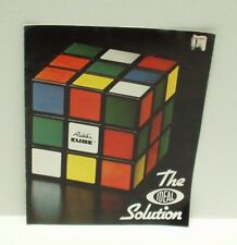 Vintage Rubik's Cube The Ideal Solution Booklet