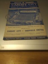 Cardiff City v Sheffield United 23/8/61
