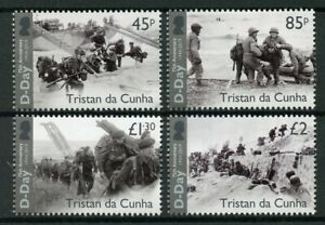 Tristan da Cunha 2019 MNH WWII WW2 D-Day 75th 4v Set Boats Ships Military Stamps