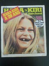 HARA KIRI n° 218 novembre 1979 ( Choron, Wolinski, Reiser, Cabu, brigitte bardot