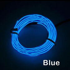 1-5M Neon Battery Operated Luminescent LED Lights Glow EL Wire String Strip Rope