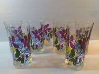 """Vintage"" Drinking Glasses ( Floral ).... Set of (7)"