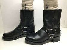 VTG WOMENS FRYE HARNESS MOTORCYCLE BLACK BOOTS SIZE 8.5 M