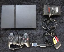 PS2 Playstation 2 SlimLine Spiele Konsole in Schwarz mit original Controller