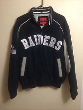 Oakland Raiders Leather Jacket. NFL Size L. Stitched On Patches