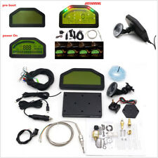 Car Dashboard LCD Screen Dash Race Display Bluetooth Full Sensor Rally Gauge Kit