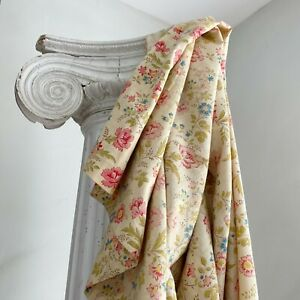 1920's light weight faded floral French fabric Shabby Chic design Curtain