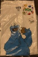 KAWS x Uniqlo x Sesame Street Cookie Monster Tee White Size XS Brand New