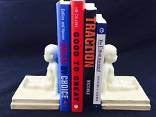 Rookwood Young Boy #2447 1920 Bookends By Designer William McDonald