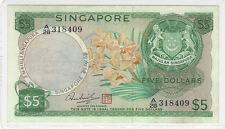 Singapore 5 Dollars 1973 XF pn 2d