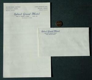 1950s Era York Pennsylvania Spheel Grund Motel unused letterhead & envelope set!