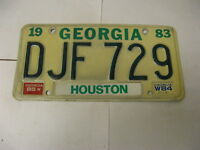 1983 83 1984 84 1985 85 Georgia GA License Plate Houston County DJF729