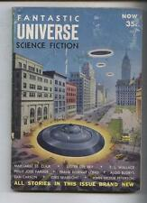 Fantastic Universe science ficton pulp magazine 7/54 Flying saucers In Ny cvr