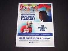 """Kendrick Lamar & Dj Whoo Kid Live Hard Rock Vegas 2014 Matted Poster 15""""x12"""" New"""