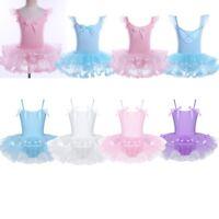 Girls Leotard Dress Ballet/Dance/Gymnastic Tutu Skirt Dancewear Costume Age 2-8Y