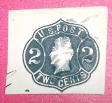 1863 2 CENT ANDREW JACKSON STAMPED ENVELOPE (CUT)--RARE ?----A GREAT COLLECTIBLE