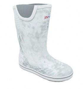 """Men's XTRATUF 12"""" Deck Boots Size 13 Kryptek Yeti Camo White Waterproof Fishing"""