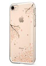 Custodia iPhone 7 Spigen Cover con Fiori in TPU gommato trasparente antiurto
