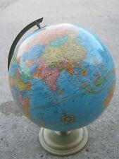 Original  Old Vintage George F Cram Co  Indianapolis Indiana USA Globe Map