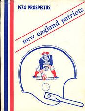 1974 NFL Football New England Patriots Prospectus EX+