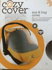New Cozy Cover - Sun & Bug Cover - Infant Carrier Cover - Dots Stripes - Orange
