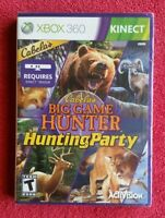 Cabela's BIG GAME HUNTER Hunting Party 🎮 Xbox 360 Game Only NEW SEALED Kinect