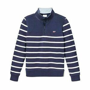 NWT VINEYARD VINES for Target Boy's 1/4 Zip Pullover Sweatshirt NAVY Sz M 8/10