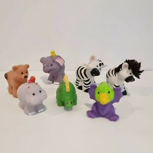Little People Fisher Price Lot of 7 x Zoo Animals and Dinosaur