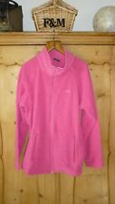 Ladies XXL (18-20 UK) hot pink stripy  full zip TRESPASS fleece cardigan AIRTRAP