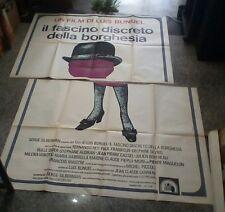 IL FASCINO DISCRETO DELLA BORGHESIA manifesto 4F originale 1973
