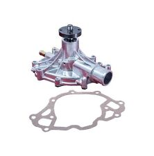 Ford Mechanical Water Pump 289, 302 and 351W Engines Chrome Aluminum Ships Free!